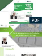 10 mandamentos para a produção de artefatos de concreto