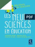 Les neurosciences en éducation, mythes et réalités (E. Sander et al. Retz, 2018)