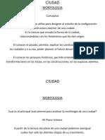 MORFOLOGIA DE LAS CIUDADES