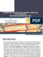 Contractual Clauses of the Airline's Tickets and Its Relevant Procedure