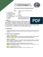 SILABO MODELO DE HISTORIA CRITICA DE LA REALIDAD PERUANA ING DE SISTEMASRESULTADO APRENDIZAJE