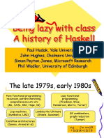 History of Haskell - Slides