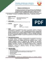TDR-ORCOTUNA IV ETAPA