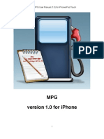 MPG for iPhone User Manual