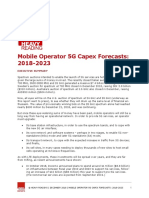 5G CAPEX forecast -heave reading