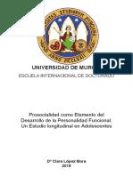 PROSOCIALIDAD COMO ELEMENTO DEL DESARROLLLO DE LA PERSONALIDAD FUNCIONAL (tesis)
