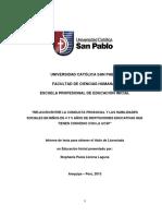 RELACIÓN ENTRE LA CONDUCTA PROSOCIAL Y LAS HABILIDADES SOCIALES (Tesis)