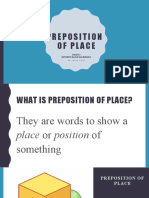 ENGLISH GRADE 4 - PREPOSITION OF PLACE