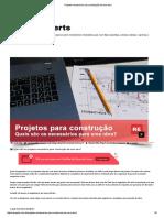 Projetos necessários para construção de uma obra by RExperts