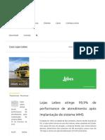 Case 1 - Lojas Lebes