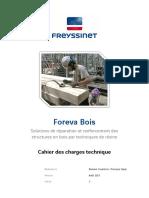Bois - Cahier des Charges Technique Foreva Bois - Freyssinet (2017)