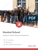 Humind School - Programme Formation Business Developer - 2020