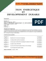 cours 1   Transition Energetique  et DD   M1 GPetro S2