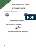 Cours - production de polymères - M1 Génie-pétrochimique