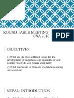CSA meeting 2016