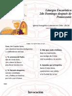 Liturgia Eucaristica IELCH 14 de junio 2020