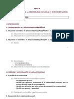 Inmigración y Extranjería Derechos de los Extranjeros Esquema  tema 4