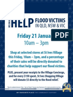 SISV Flood Appeal Event