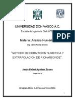 Act 05 Metodos Numericos (Metodo de Derivacion Numerica)