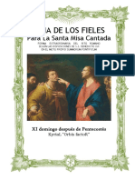 XI Domingo Después de Pentecostes. Guía de los fieles para la santa misa cantada. Kyrial  Orbis Factor