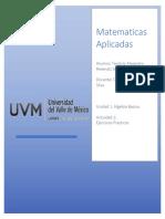 Matematicas aplicadas Actividad 1