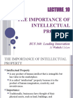 Lec 9 - The Importance of Intellectual Property