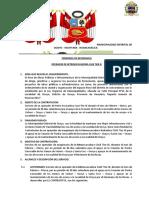 TERMINOS DE REFERENCIA OPERADOR DE RETROEXCAVADORA