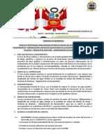 TERMINOS DE REFERENCIA ESTUDIO DE MECANICA DE SUELOS VICHURI