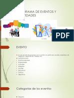 PROGRAMA DE EVENTOS Y ACTIVIDADES