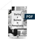 PA Starting a Business In Pennsylvania rev-588  (12-10)