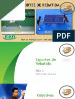 Esportes de Rebatida. Aula 2. Tênis e tênis de mesa. Rio 2016 Versão 1.0