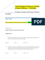 Community Based Strategic Policing in Canada , 3rd Edition by Brian Whitelaw – Test Bank