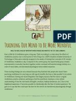 mindfulness mini-unit 6  everyday mindfulness