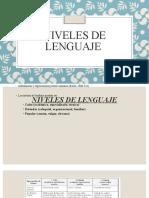 Niveles de lenguaje - Funciones del comunicador