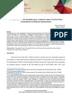 A Cooperação Técnica Brasileira para a América Latina à Luz da Teoria