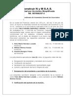 ACTA DE CAMBIO DE REPRESENTANTE LEGAL ECONSTRUIR N y M S
