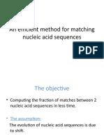 An efficient method for matchng nuclic acid sequences
