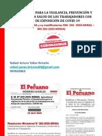 Plan VPC de COVID 19 en el trabajo FOBUS