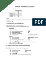 Ejercicio FI 4 Contabilidad de Acreedores