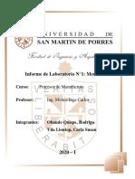 Laboratorio 3 - Procesos de Manufactura