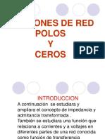 7.2 Funciones de Red Polos y Ceros