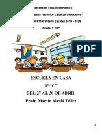 3. ESCUELA EN CASA DEL 27 AL 30 DE ABRIL 1° C