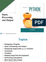 Gaddis Python 4e Chapter 02 PPT