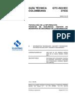 27035GTC-ISO-IEC27035 TÉCNICAS DE SEGURIDAD. GESTIÓN DE INCIDENTES DE SEGURIDAD DE LA INFORMACIÓN