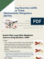 Kuliah 10-11 ADR (Adverse Drug Reaction)