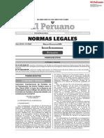 Edición extraordinaria de Normas Legales miércoles 12 de agosto 2020