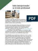 10 habilidades interpersonales para lograr el éxito profesional
