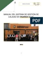 Manual de Calidad - VIGARZA SAC