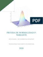 PRUEBA DE NORMALIDAD P VARIANTE