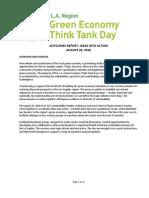 2010 Outcomes Report La Region Green Economy Think Tank Day (1)